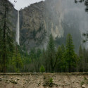 Bridalveil Falls and Leaning Tower